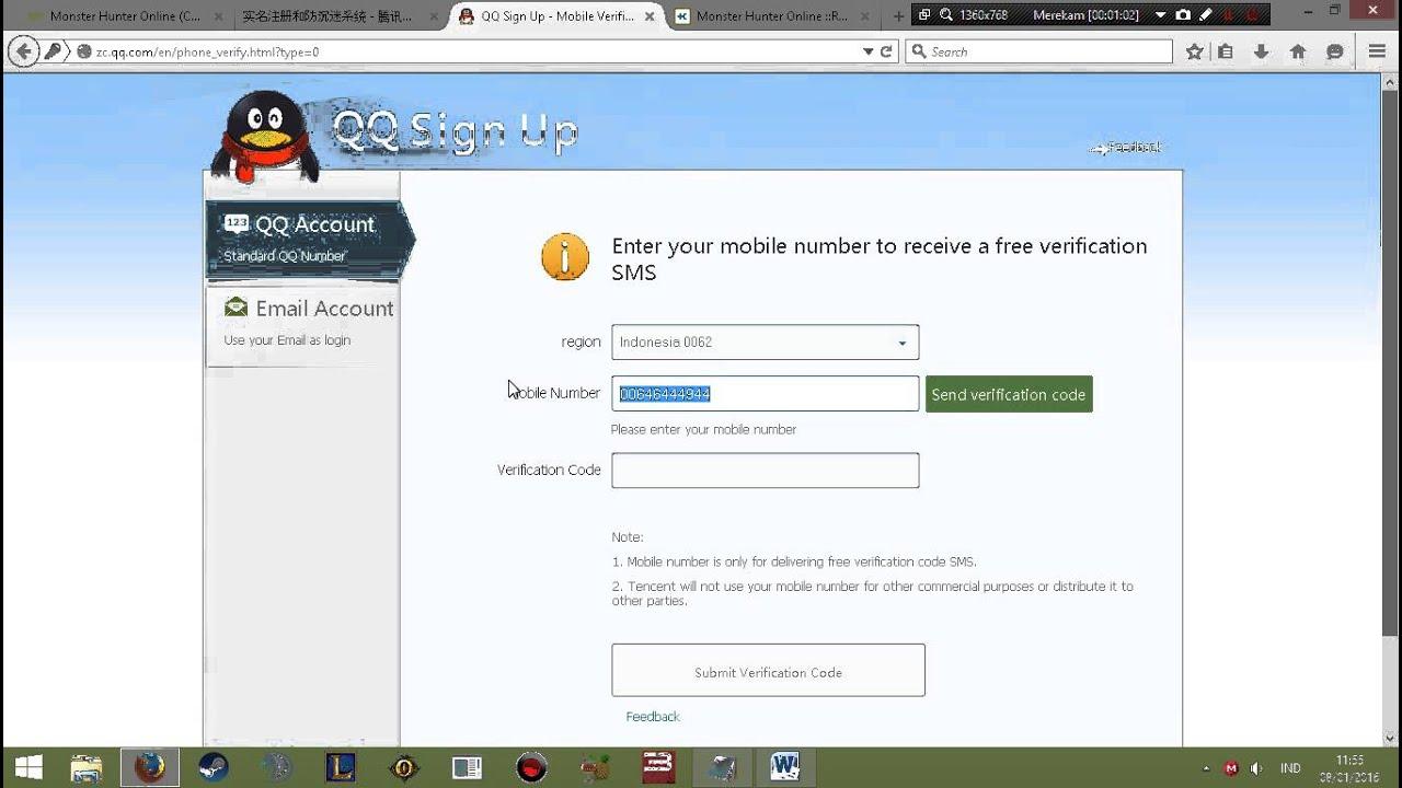 Tutorial Cara Registrasi Akun Qq Guide Bahasa Indonesia Step By Step Youtube