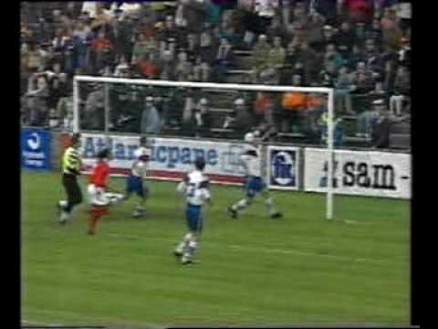 Faroes - Malta 2-1. 1998 World cup qualifiers. Part 2. Captain's tragedy in triumph