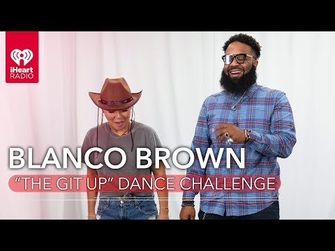 "Blanco Brown Teaches Ellie Lee How To ""Cowboy Boogie"" In ""The Git Up"" Dance Challenge!"
