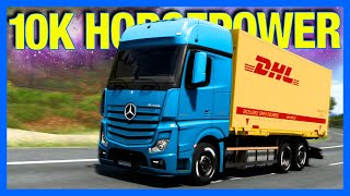 10,000 Horsepower Box Truck in Euro Truck Simulator 2