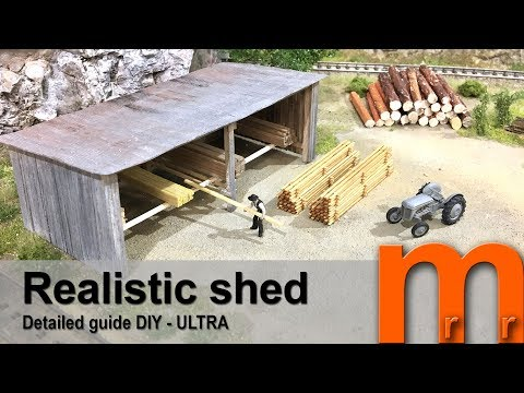 Model a wooden shed – Detailed guide DIY