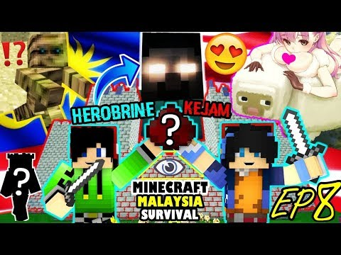 HEROBRINE & Perangkapnya Yang MENGGERUNKAN - EP 8 Minecraft Malaysia Survival