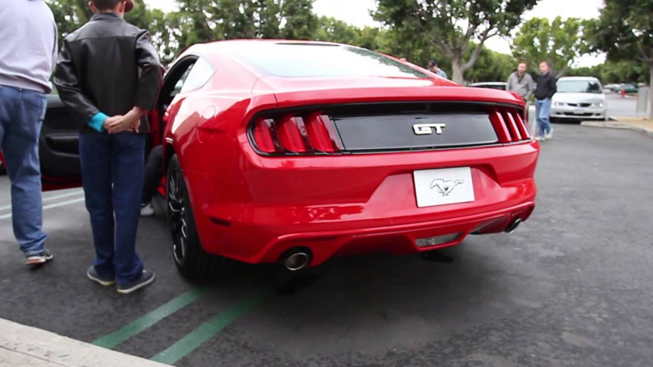 NEW 2015 MUSTANG GT V8 REVVING / START UP / IDLE SOUNDS!