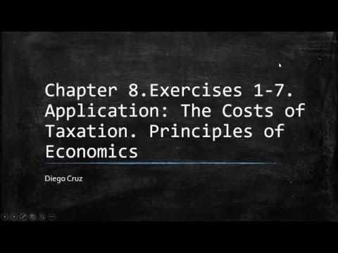 Chapter 8.  Exercises 1-7. Principle of economics.