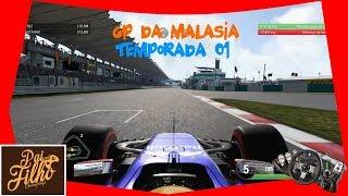 F1 2017 PC GAME - GP DA MALASIA - TREINOS LIVRES - #51 - 720p 60fps
