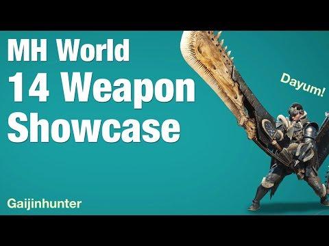 Monster Hunter World: All 14 Weapons Showcase