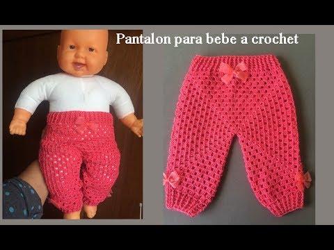 Pantalón para bebe a crochet todas las tallas ( recién nacido) - YouTube 40731877dab1