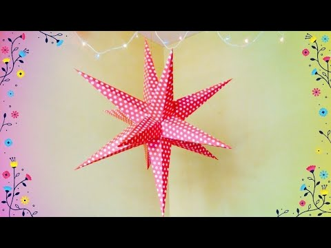 Diy How To Make Star Lantern For Christmas New Year Decoration