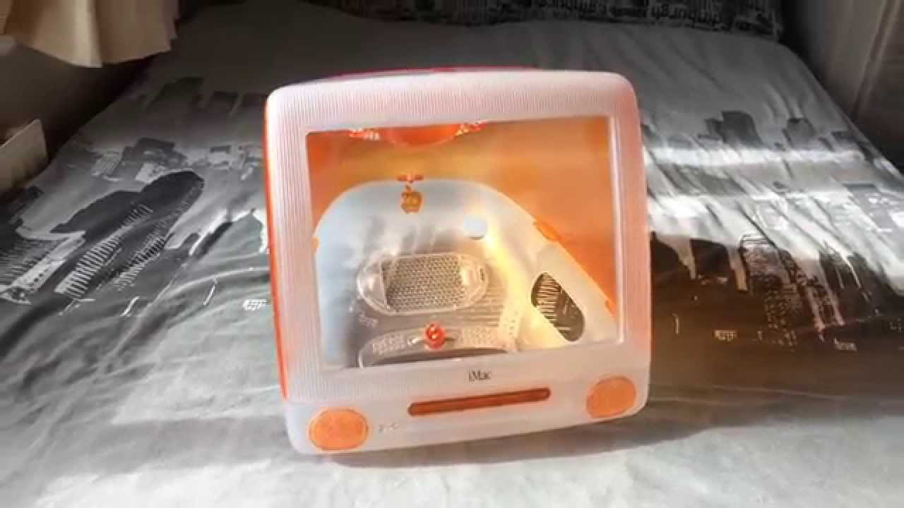 IMac G3 Orange Shell - Macquarium - Cat House - YouTube