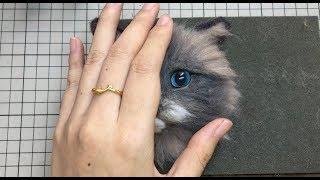 【lari手作】羊毛毡布偶猫植毛过程