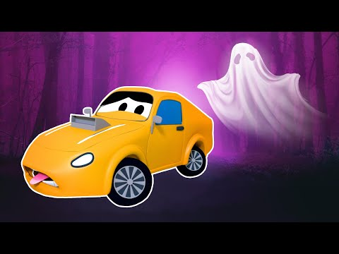 Tom The Tow Truck's Paint Shop: Charlie is Spiderman HALLOWEEN SPECIAL | Truck cartoons for kids