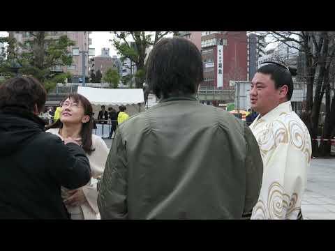 唐橋ユミさん 番組撮影前の打ち合わせ? その2 大相撲トーナメントにて