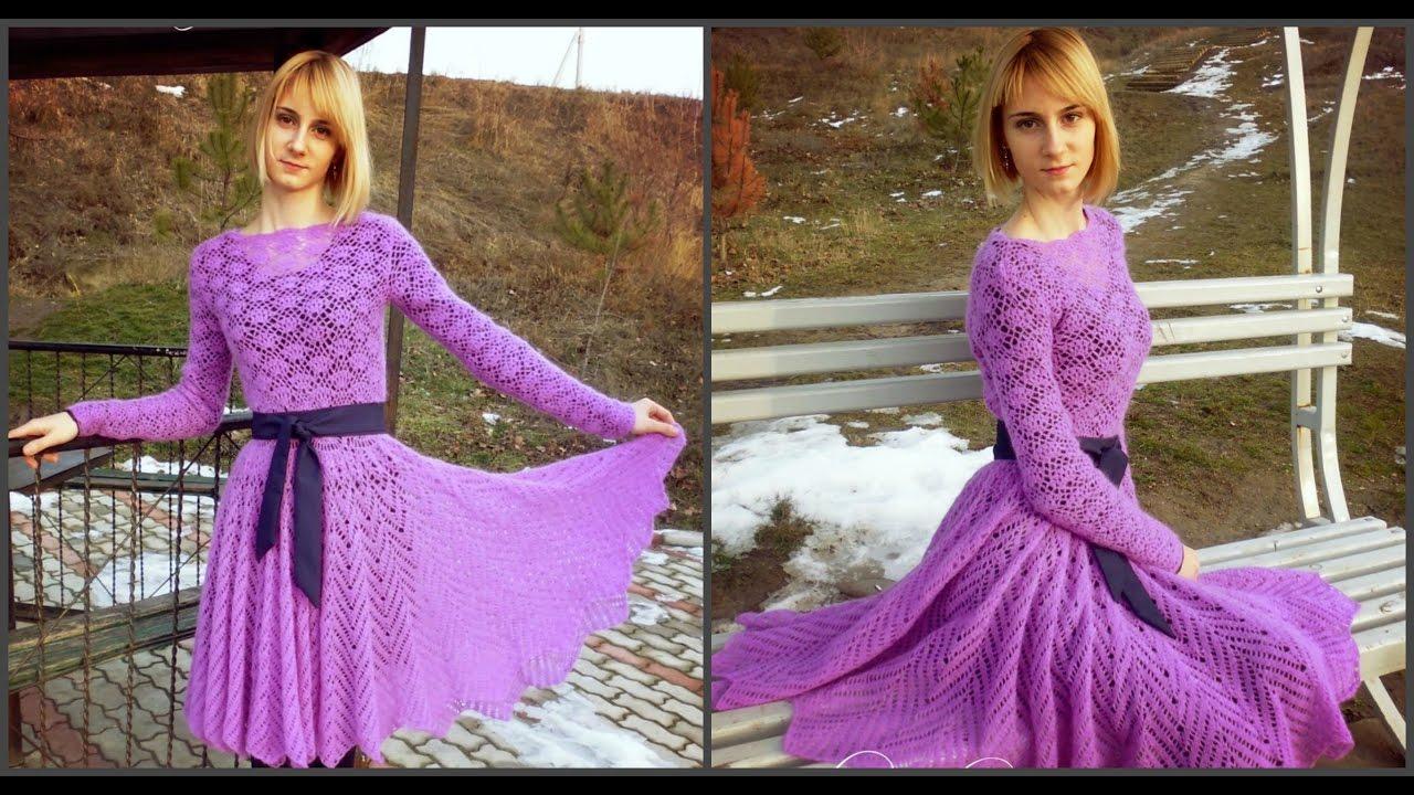Платье из мохера спицами схема фото 986