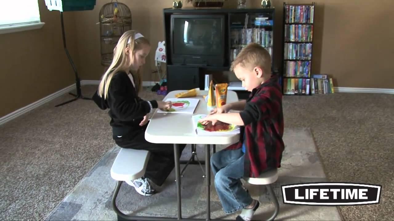 lifetime kids picnic table Lifetime Kids Picnic Table, Almond (Model 80094)   YouTube lifetime kids picnic table