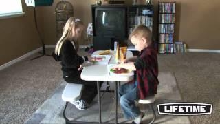 Lifetime Kids Picnic Table, Almond (model 80094)