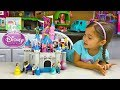 Huge Sleeping Beauty Princess Aurora Castle Toy w/ Frozen Surprise Eggs!