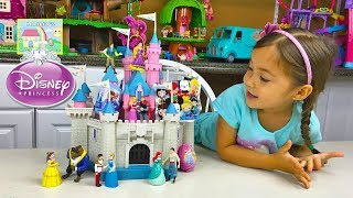 HUGE SLEEPING BEAUTY CASTLE TOY Aurora Kinder Surprise Egg Disney Frozen Surprise Toys Mickey Kids