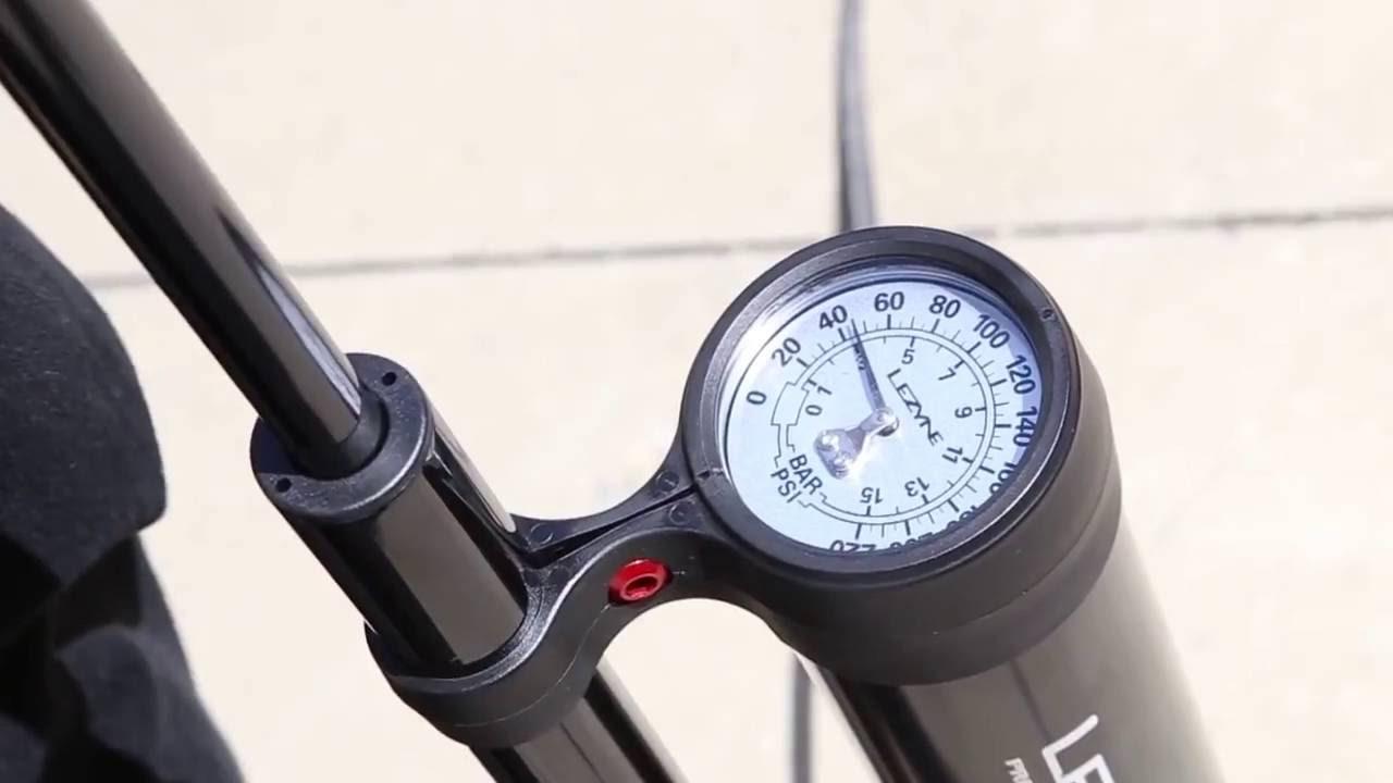 """Lezyne Alliage Over Drive 2.5/"""" Vélo Pompe à vélo ABS-1 Pro Chuck 60psi argent"""