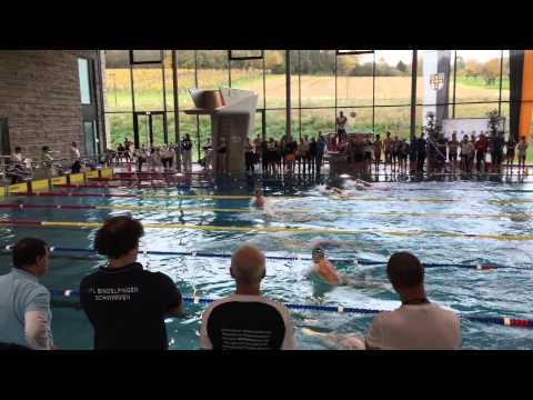 Württembergische Meisterschaften Kurzbahn 2014 Neckarsulm: 100m Brust Finale Herren