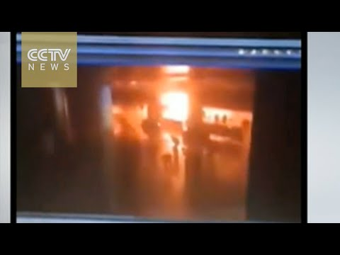 Unverified security camera footage shows bombing at Istanbul airport