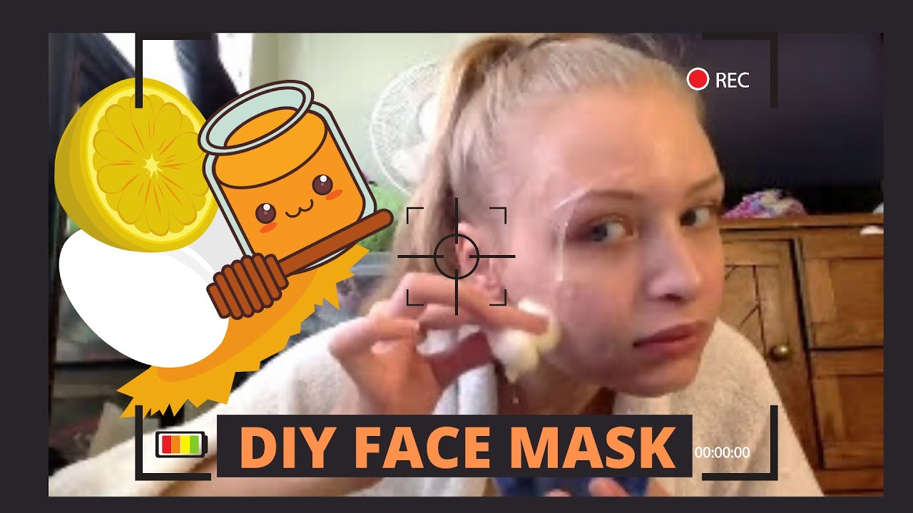 DIY FACE MASK  EGG WHITESHONEYLEMON JUICE  YouTube