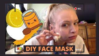 DIY FACE MASK - (EGG WHITES,HONEY,LEMON JUICE)