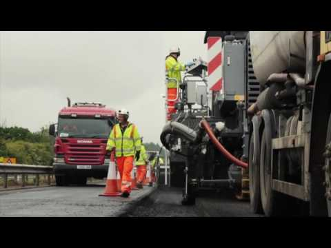 Lane Rental Services Ltd  First Cold re-pave scheme in the UK A1