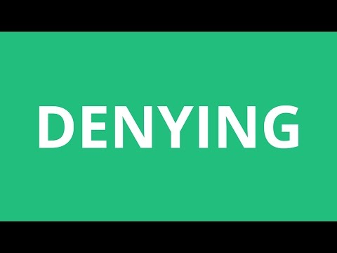 How To Pronounce Denying - Pronunciation Academy