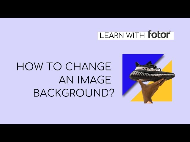 How to Remove and Change Background of Product Images in Fotor