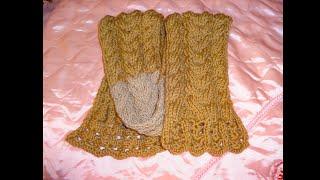 Вязание детского шарфа (шарфика) спицами