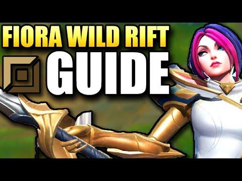 WILD RIFT FIORA TOP GUIDE!! Full Tutorial + Challenger Gameplay   Best Build