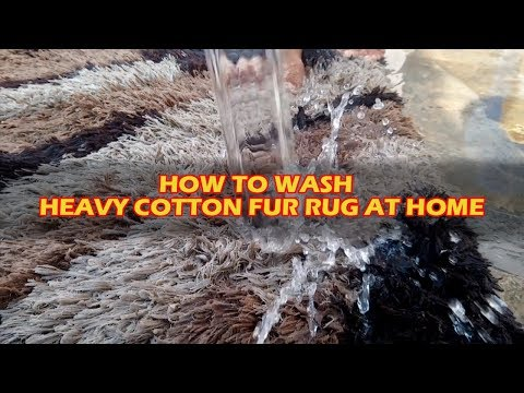 Part #2 | Cotton Heavy Fur Rug | How To Clean Rug At Home | Professional Rug/carpet Cleaning