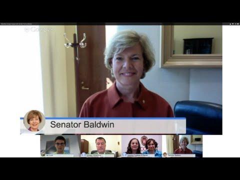 #NextGen Google Hangout with Senator Tammy Baldwin