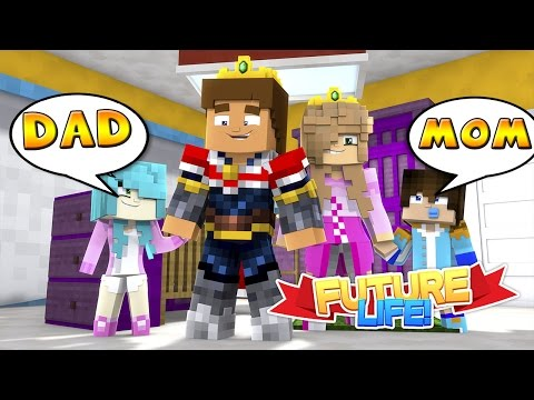 Minecraft FUTURE LIFE: FIRST WORDS LITTLE KELLY & LITTLE DONNY'S BABIES ARE TALKING!!