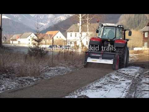 PTH ECO Crusher on frozen ground - ideal to maintain hauling roads