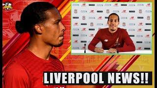 BREAKING NEWS! Virgil van Dijk signs new 6 year Liverpool contract! Liverpool News