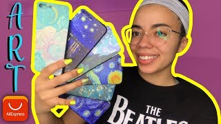 UNBOXING FAMOUS + EXPENSIVE ART ALIEXPRESS IPHONE CASES!   THIS IS INSANE!
