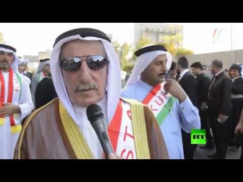 مظاهرة في أربيل لدعم الاستفتاء حول انفصال إقليم كردستان