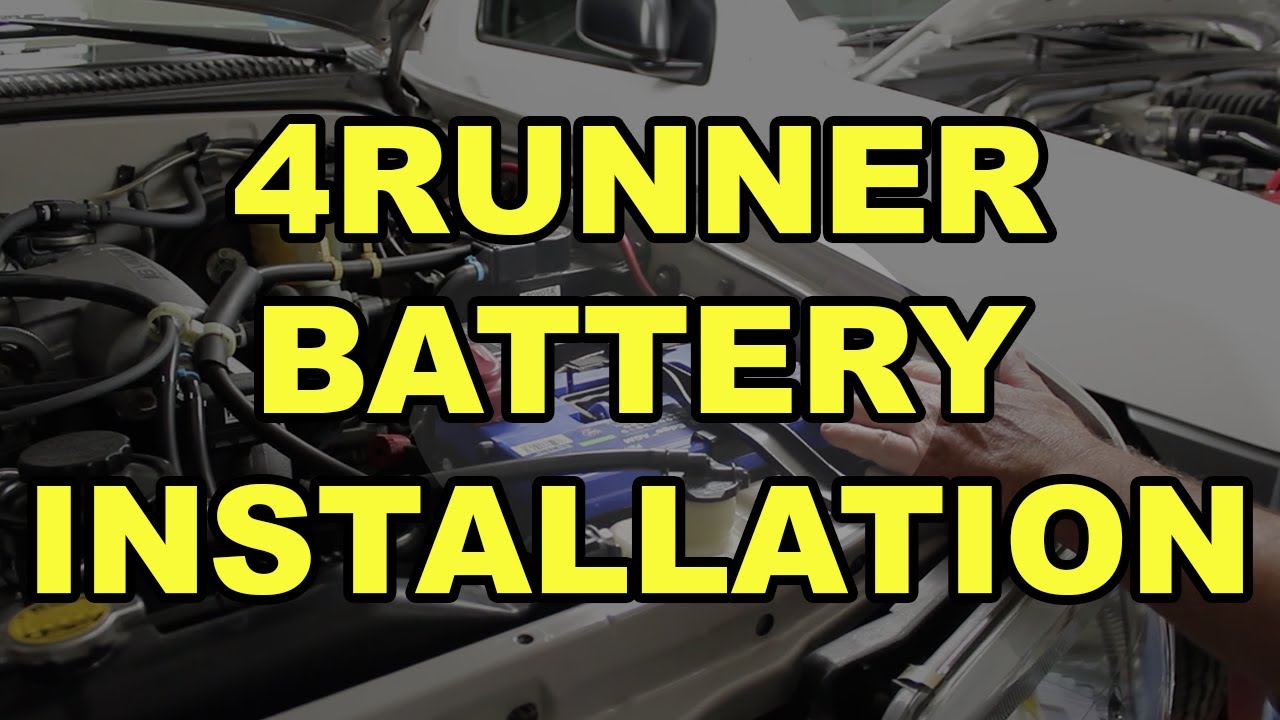 How To Install A Battery In Your 4runner Sears Diehard Gold Agm Alternator Wiring Diagram