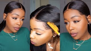 "How to: Slay your Frontal using the ""Hot Comb Method"" ft. Wowebony.com"