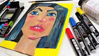 Using Oil Based Markers for the First Time // Smart Art July 2018