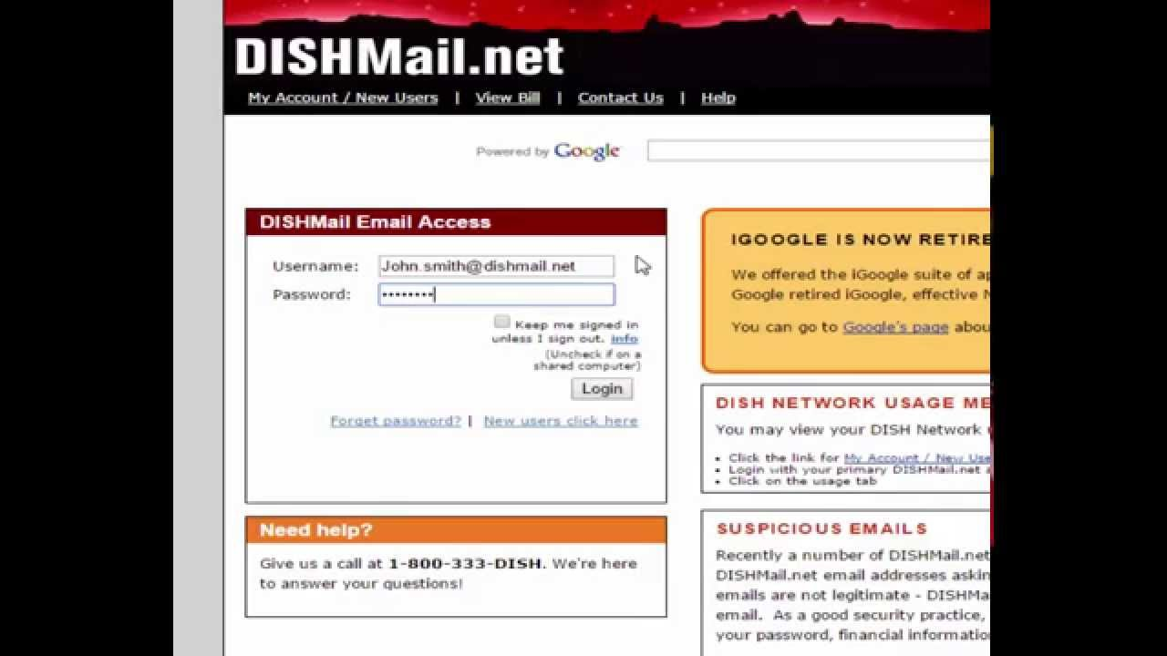 Dishmail email sign in