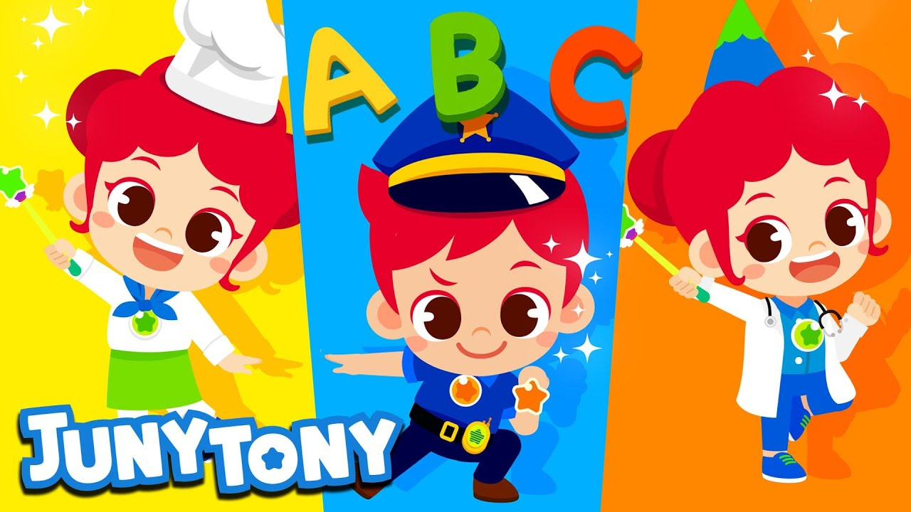 [NEW] Alphabet Occupations | Job & Occupation Song for Kids | ABC Children's Song | JunyTony