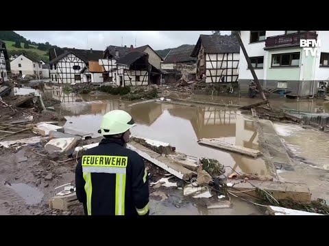 Les images des dégâts colossaux causés par les inondations dans l'ouest de l'Allemagne