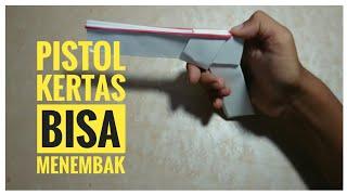Pistol Kertas Peluru Karet 🔫 (Bisa Menembak) || DIY Paper Gun