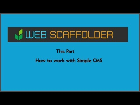 How to work with Simple CMS