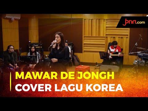 Mawar De Jongh Cover Lagu Korea di Konser Virtual