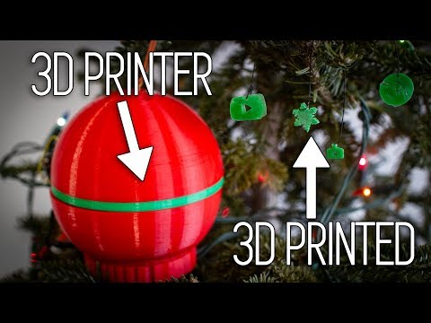 A Christmas Ornament that 3D Prints Christmas Ornaments