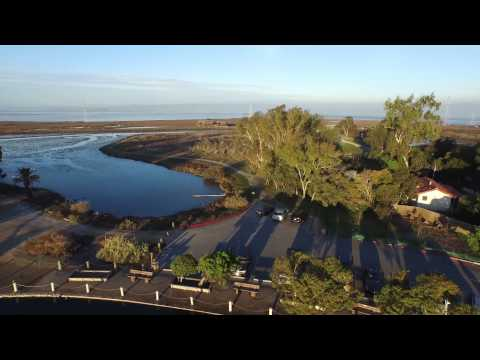 Evening drone flight around the Palo Alto Baylands and Duck Pond