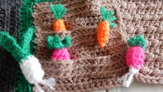 How to Crochet a Vegetable Patch - CAL Ep5 Part 1 Road Play Mat